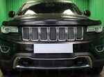 Allest Защита радиатора Premium, чёрная, верх (7 частей) (Laredo, Limited) JEEP Grand Cherokee 13-